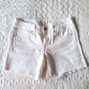 American Eagle White Denim Shorts